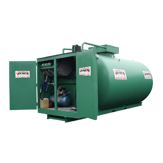 Steel fuel station 6000 L, double wall, new norm 3rd generation