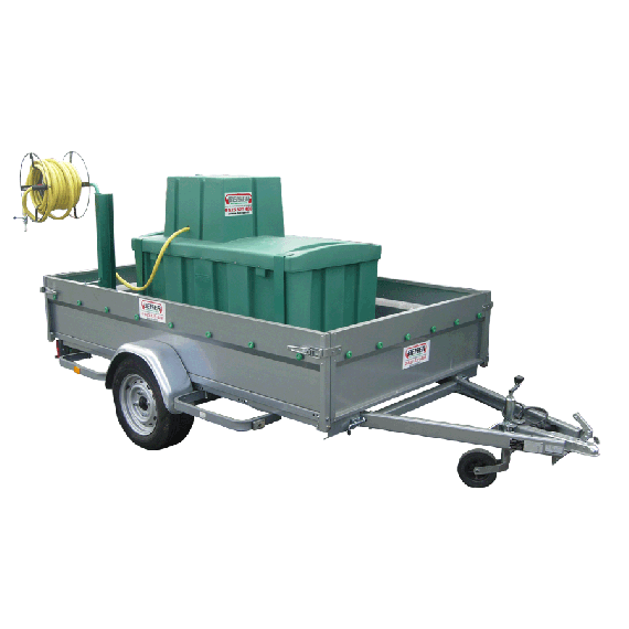 Water tank (500 L) with trailer