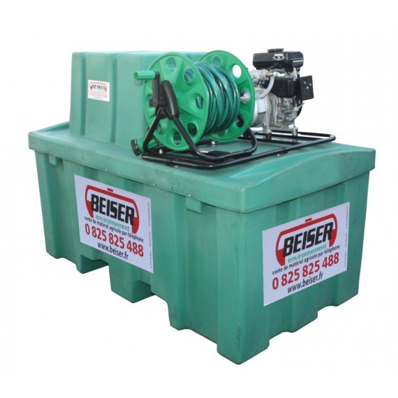 Watering package with 500L HDPE tank