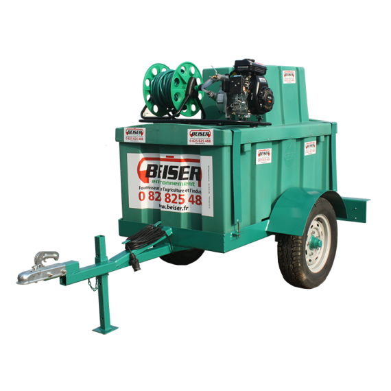 Watering package with 500L HDPE tank on frame