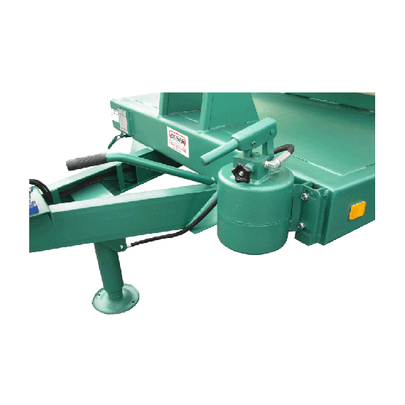 Hydraulic support leg for wheely STEEL tank, direct support