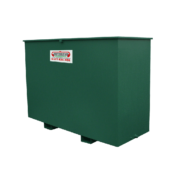 Metal retention tray for polyethylene 1500L tank without cabinet