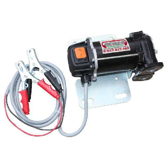 Fuel pump 12V, 50L/min with 2m cable and 2 crocodile clips