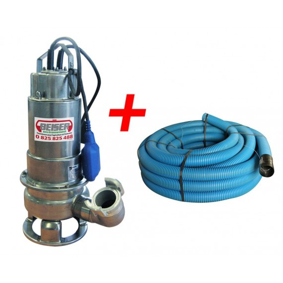 Immersed stainless steel pump 220V with float and flexible