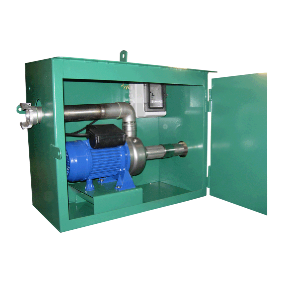 Cabinet with single-phase liquid fertiliser stainless steel pump, 230V