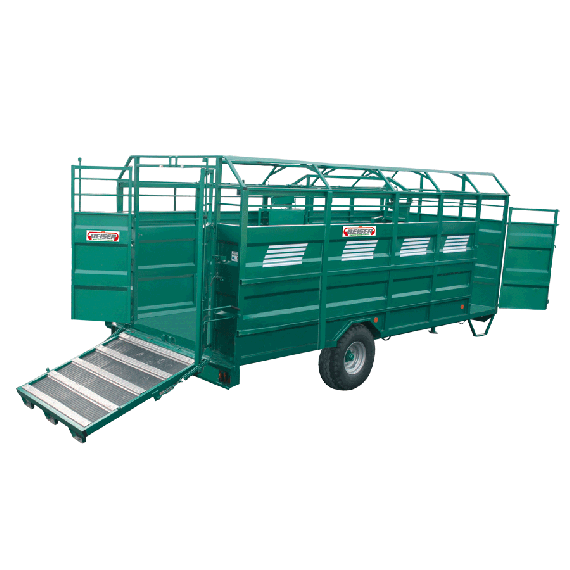 HEAVY 100% steel cattle truck, Length 3.70 m, without options