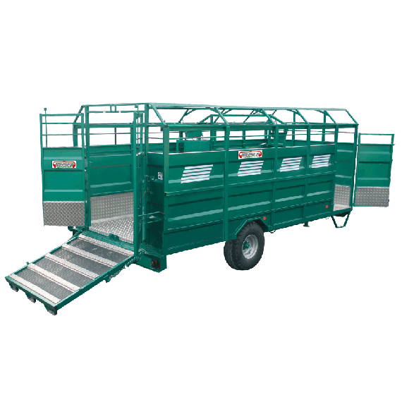 STEEL cattle truck with aluminium deck, Length 3.70 m, without options