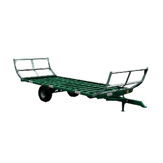 Central-wheel trailer, 8 m, 2 wheels