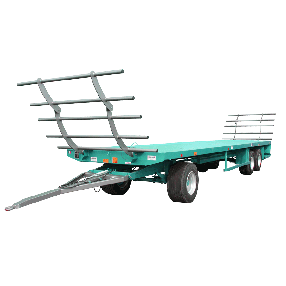 10 m trailer with rotating plate - Modèle LOURD