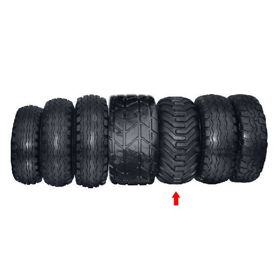 Wheel 400/60/15.5 with lugs