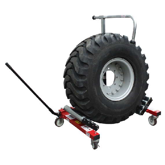 Handling trolley for tractor wheel