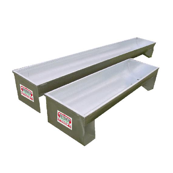 Semi-circular galvanised trough (on square legs) 2 m, Ø 400 mm