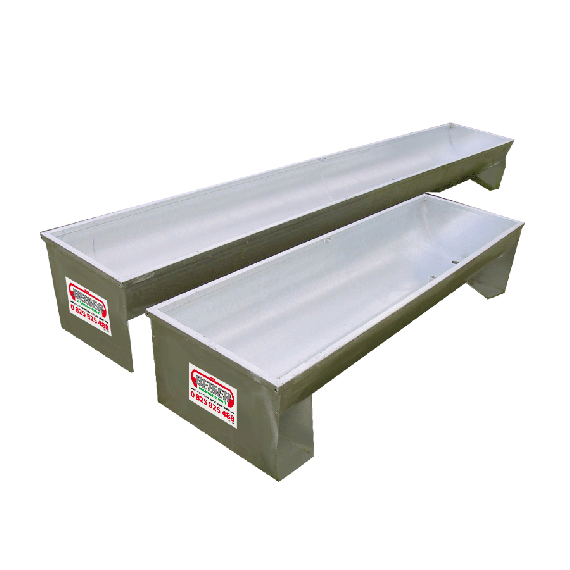 Semi-circular galvanised trough (on square legs) 5 m, Ø 600 mm