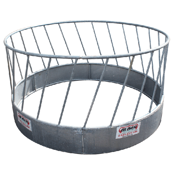 Circular hay rack with oblique bars (for sheep)