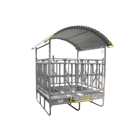 Hay rack with secure self-locking feed front 2 x 3m - 14 places