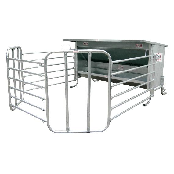 Galvanised calf feeder, 2 m width, 1100 L