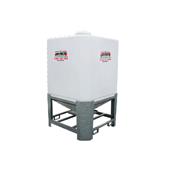 Cubical polyester silo 2 m3 in kit form