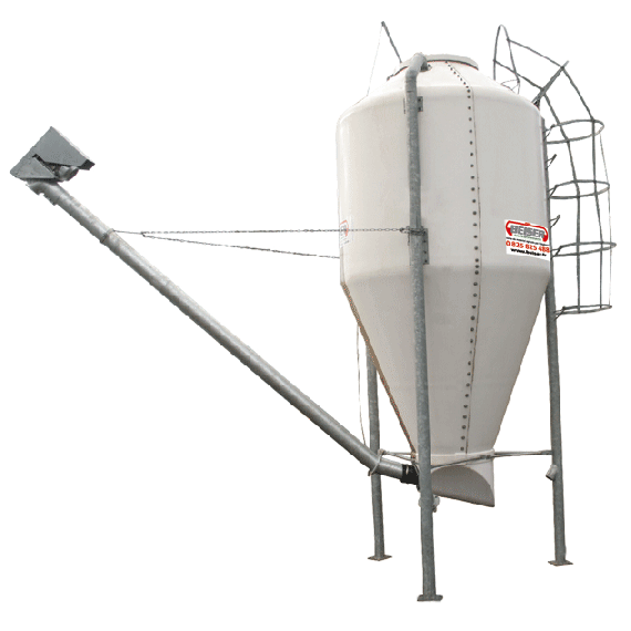 Polyester silo in kit form, 8 m3