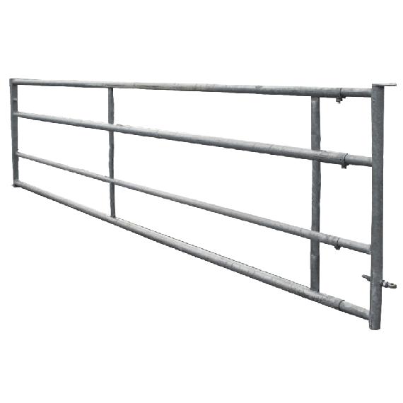 Galvanised 4-rail freestall barrier 4/5 m, fixed panel