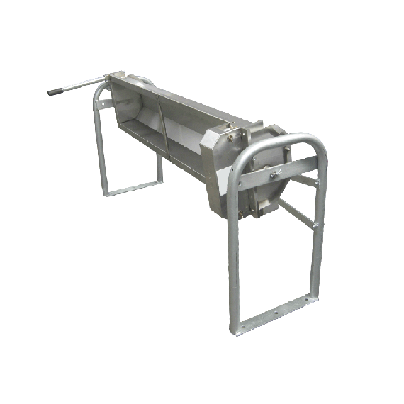 Tilting stainless steel 135 L drinking trough for bolting to the ground