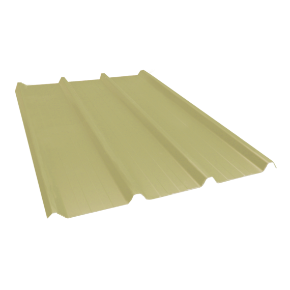 Ribbed sheet 45-333-1000, 60/100, sand yellow, 5.5 m