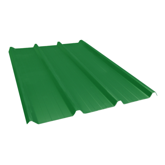 Ribbed sheet 45-333-1000, 60/100, forest green, 4 m
