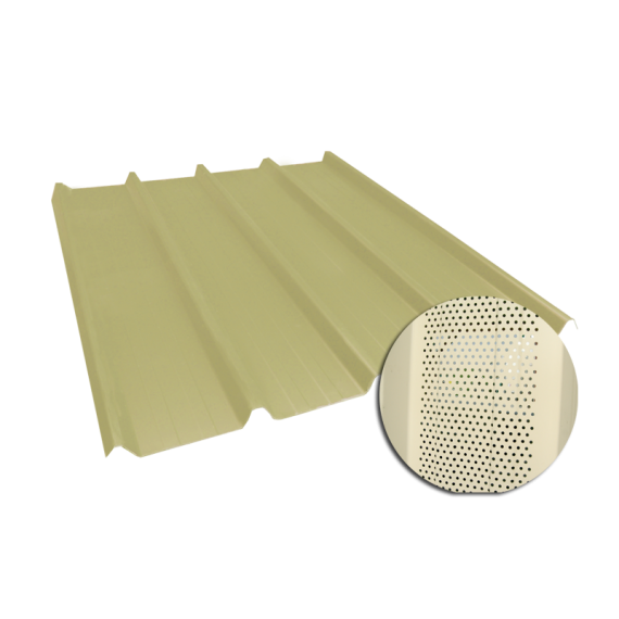 Ribbed sheet 45-333-1000, 60/100, sand yellow perforated, 6 m