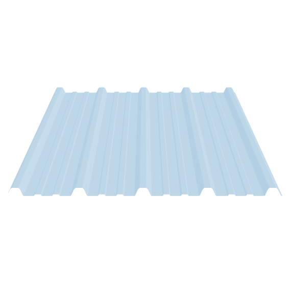 Basic ribbed sheet 33-250-1000, translucente polyester, 5.5 m