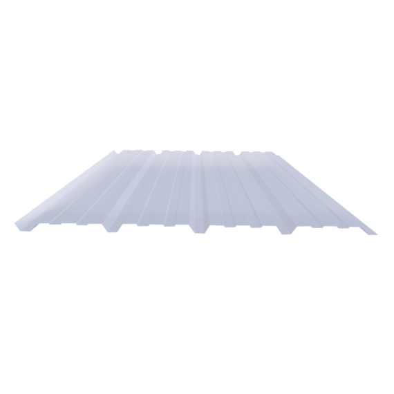 Ribbed sheet 25-267-1070, transparent polycarbonate siding, 2 m