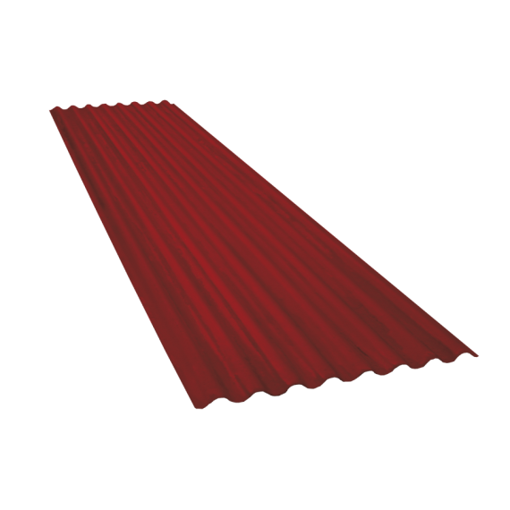 Corrugated sheet 15 waves, red brown RAL8012, thickness 0.60, 3 m