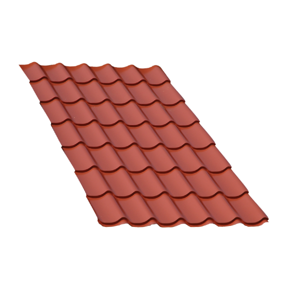 Terra cotta tile sheet, 6.5 m