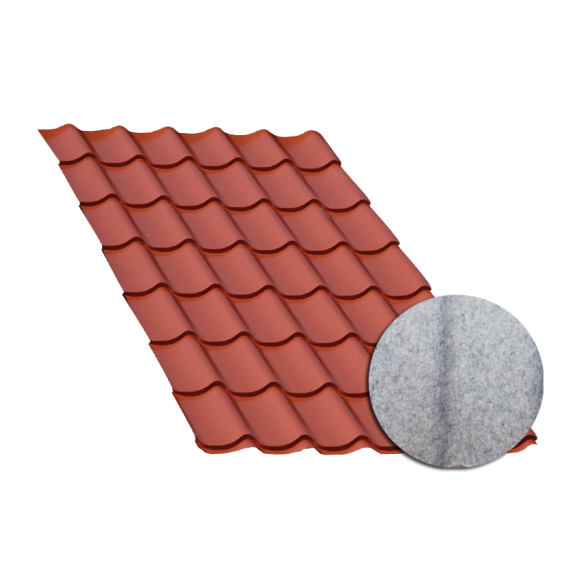 Terra cotta tile sheeting, with anti-condensation sheet, 7.5 m