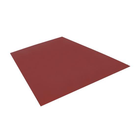 Flat sheet, red brown RAL8012, 1.22x2 m