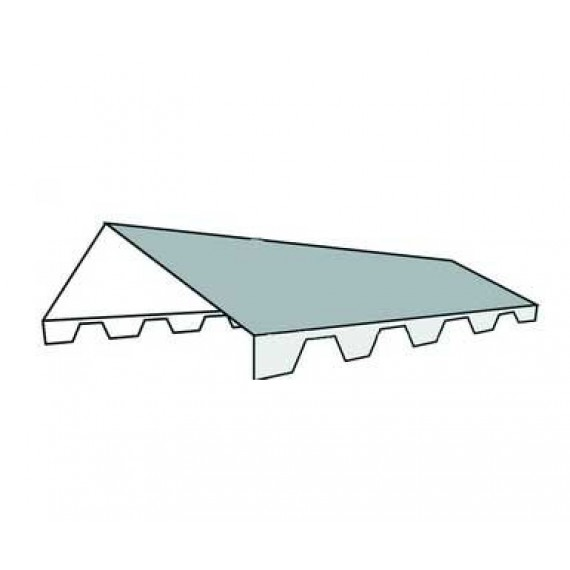 Serrated ventilated double ridge tile 2m - forest green RAL6011
