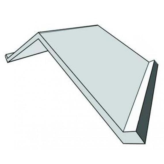 Flat ridge tile 2 m - galvanised