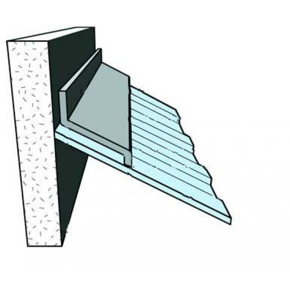 Wall-abutting ridge tile , ANTHRACITE GREY, 2 m