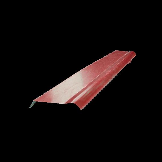 Half cylindrical ridge tile - red brown RAL8012