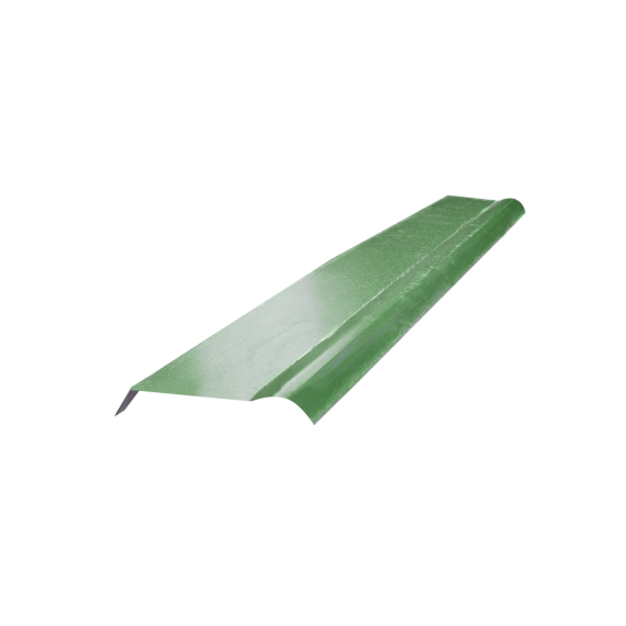 Half cylindrical ridge tile - forest green RAL6011