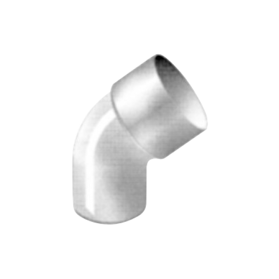 Downpipe elbow, 45°, Ø 80, thickness 3.2 mm