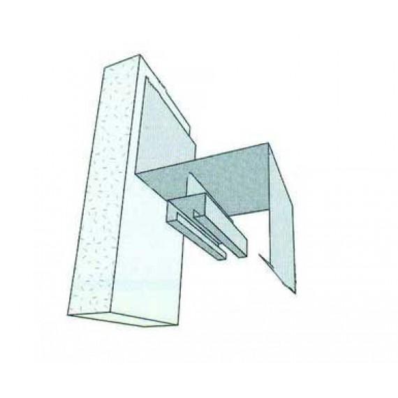 Door guard - Anthracite grey - Length : 2 m