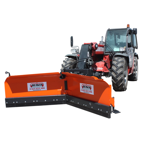 Snow plough 3.20 m, for loader and telescopic