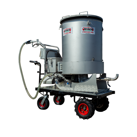 Stainless steel mixer/dispenser trolley (300L)