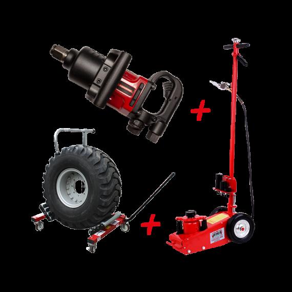Professional wheel-changing kit