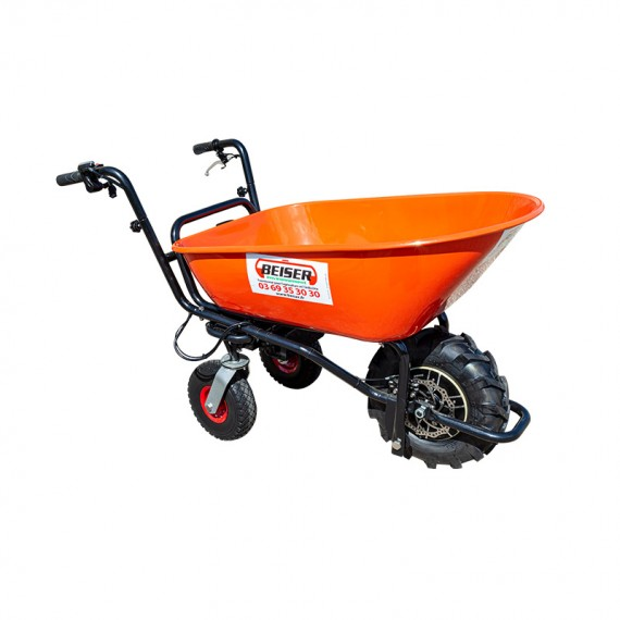 Wheelbarrow with electric motor