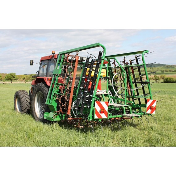Mixed pasture harrow 6 m with seeder