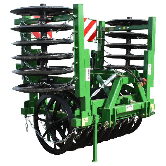 Furrow press 4 m with hydraulic lifting - Ø 900 mm