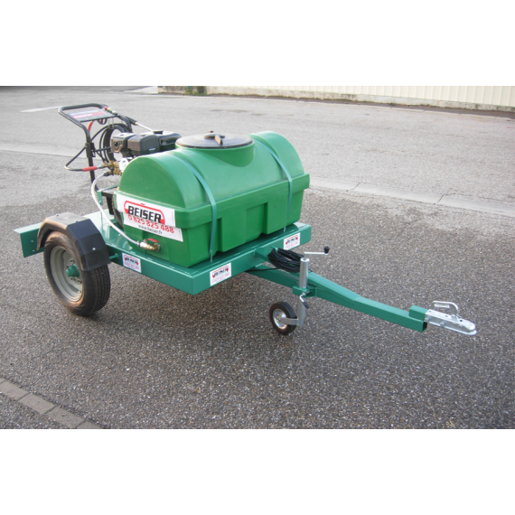 Petrol high pressure cleaner pack, 300 L tank on agrarian frame