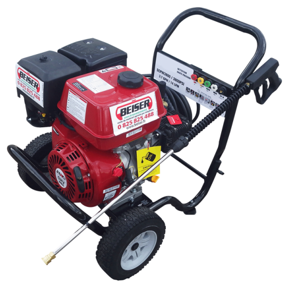 High pressure petrol cleaner 2 wheels - 262 bars
