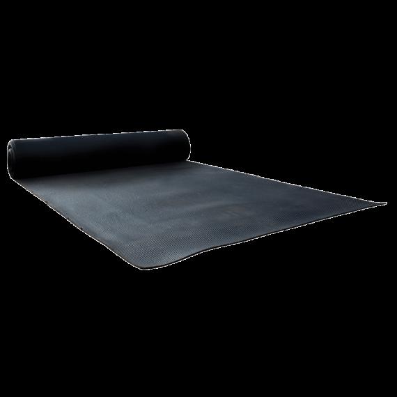 Hammered rubber mat 30 m x 2.5 m x 10 mm