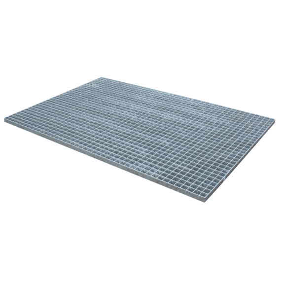 Galvanised pressed grating - 1500 x 1000 - mesh 30 x 30 flat edge